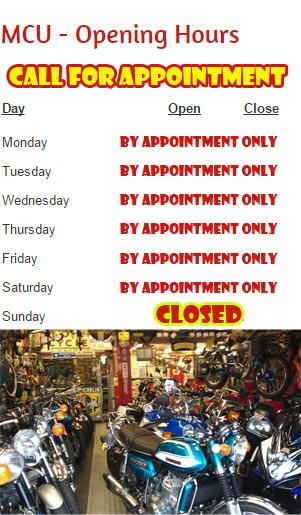 Classic Bike Dealer Opening Hours