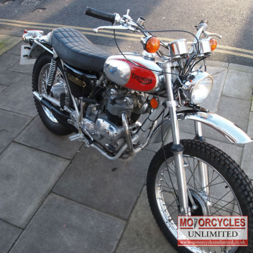 1975 triumph tr5t trophy adventurer classic british motorcycle for