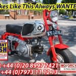 HONDA CZ100 Z50 WHITE TANK MODEL WANTED