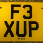 Yamaha Exup personal number plate